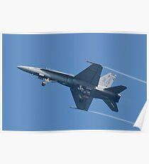 162888 F/A-18A Hornet Pulls Gear Up Poster