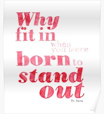 Born to Stand Out Poster