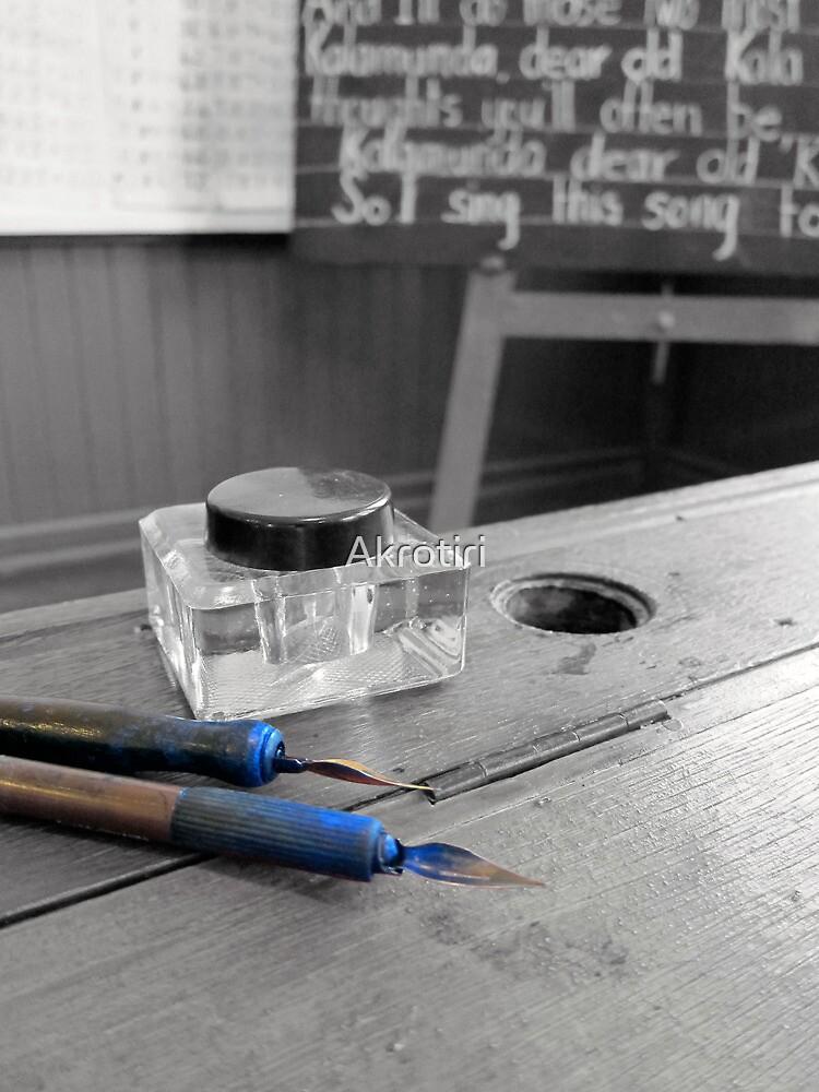 Ink blot test by Akrotiri