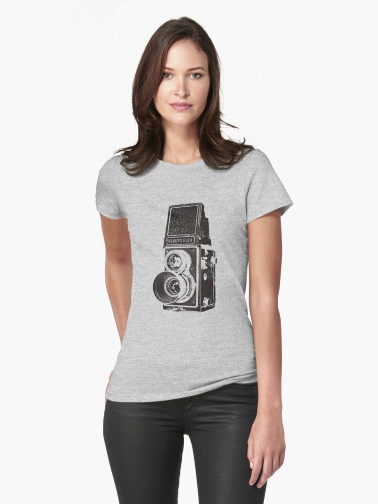 Vintage Beautyflex TLR camera Womens T-Shirt Front