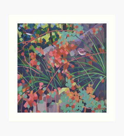 Looking for Mistletoe Art Print