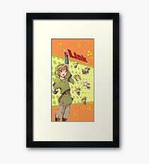 Legend of Zelda: Link time Framed Print