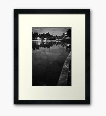 Polluted Reflection Framed Print