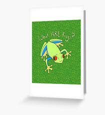 What ARE Frogs? (Tree edition) Greeting Card