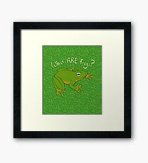 What ARE Frogs? (Basic edition) Framed Print