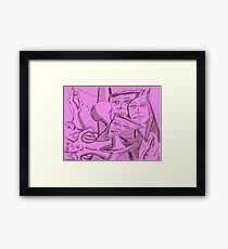 mutated gumby Framed Print
