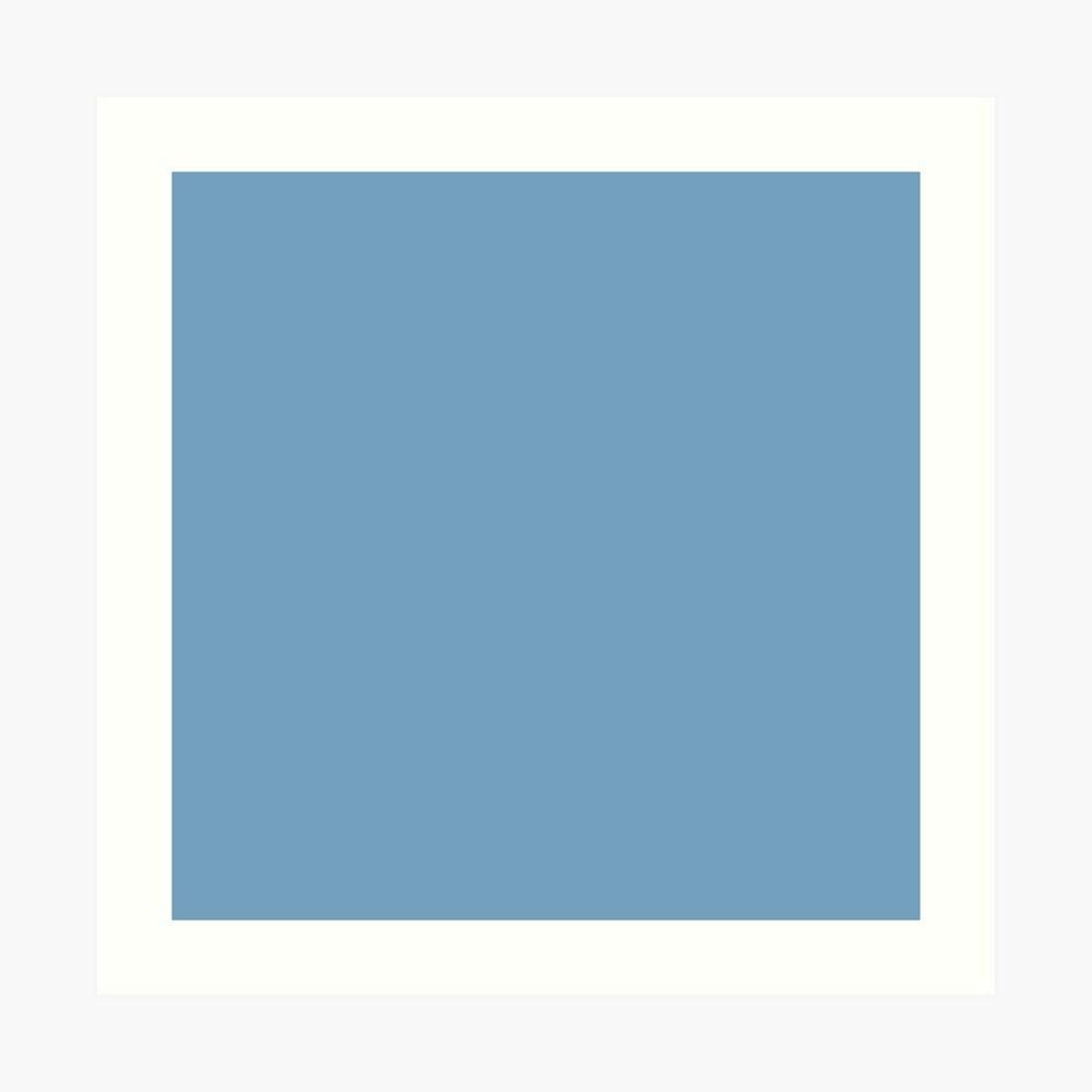 Beautiful Cushions/ Plain Air superiority blue Art Print