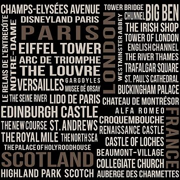 France, London, Scotland, Paris by Subwaysign