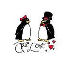 Penguin Love by mikaelaK