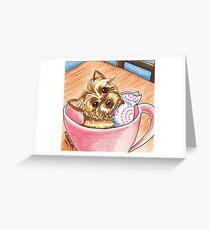 Teacup Yorkie Greeting Card