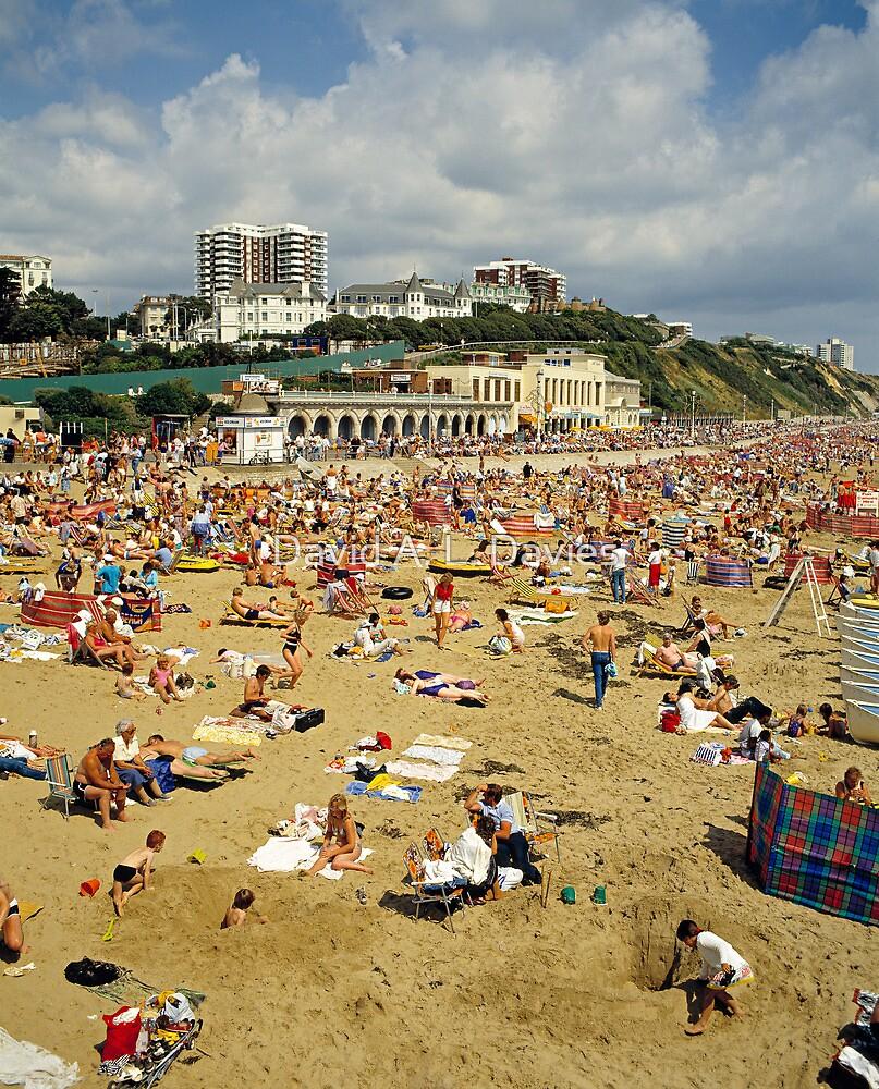 Bournemouth Beach UK, 1980s. by David A. L. Davies