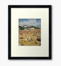 Bournemouth Beach UK, 1980s. Framed Print