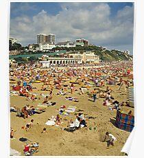 Bournemouth Beach UK, 1980s. Poster