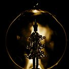 Christmas Tree Glass Bauble (Gold) by Lou Wilson