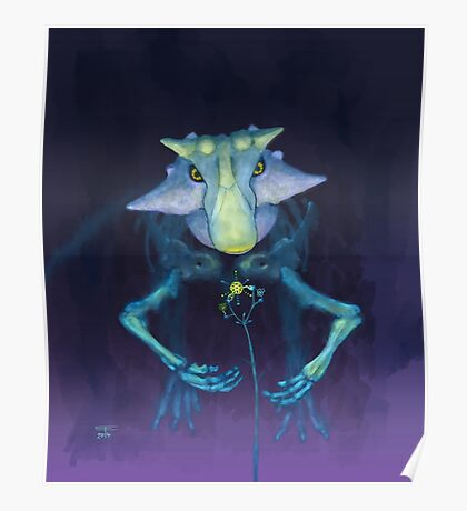 Electric Parrot (Psittacosaurus sibiricus) Poster