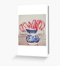 blue willow Christmas Greeting Card