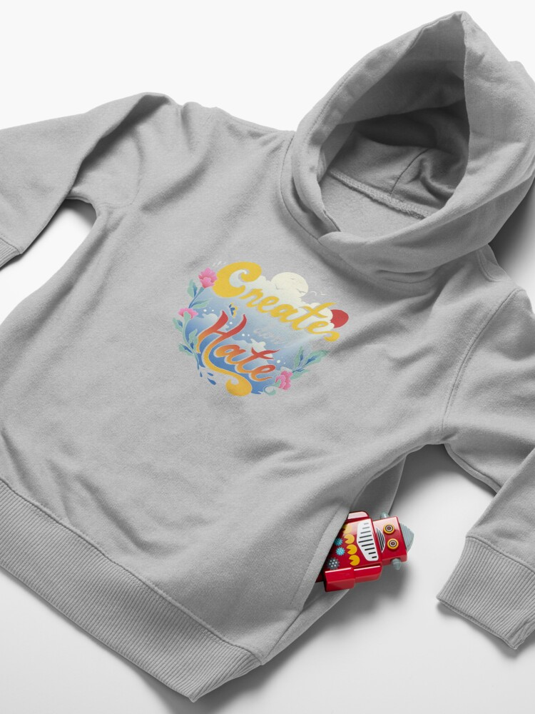 Alternate view of Create Don't Hate Toddler Pullover Hoodie