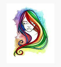 Coloured Hair Photographic Print