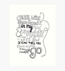 Mirrors Lyric Art Art Print