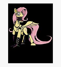 My Little Pony - MLP - FNAF -  Fluttershy Animatronic Photographic Print