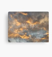 Clouds - nature inspired Canvas Print