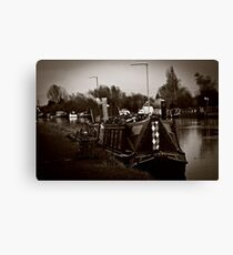 Barges on the Sharpness Canal  Canvas Print