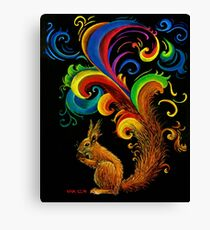 Psychedelic Squirrel  Canvas Print