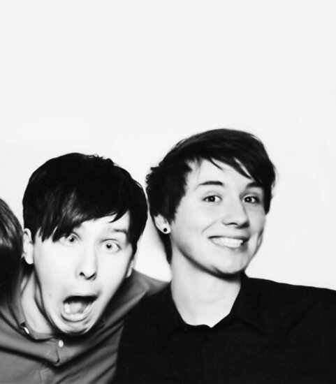 Quot Black And White Dan And Phil Quot Poster By