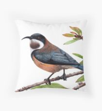 Eastern spinebill Throw Pillow
