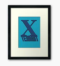 Doctor Who: X - Tennant Framed Print