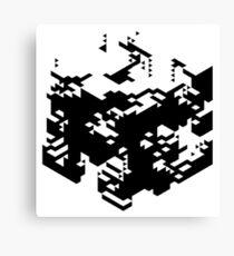 Isometric Decay Canvas Print