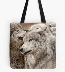 Wolf Pack at Play Tote Bag