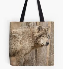 Wolf in Camo Tote Bag