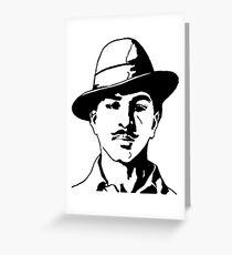 Bhagat Singh Sketch Greeting Card