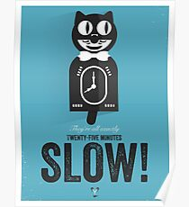 Cinema Obscura Series - Back to the future - Cat Clock Poster