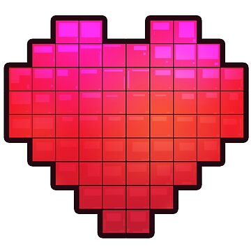 Large Pixel Heart by whiteicepanther
