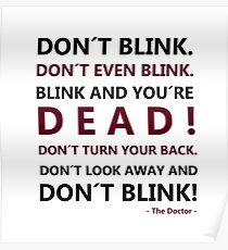 DON´T BLINK Poster