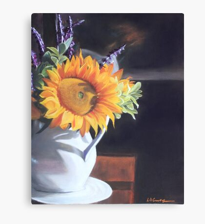 Sunflower in Winter Canvas Print