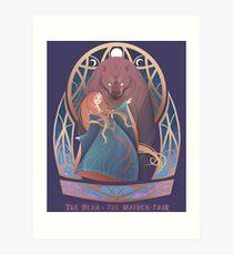 The Bear & The Maiden Fair Art Print