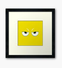 Yellow mirror Framed Print