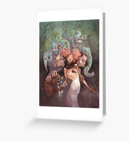 The Fanglehorn Troupe Greeting Card