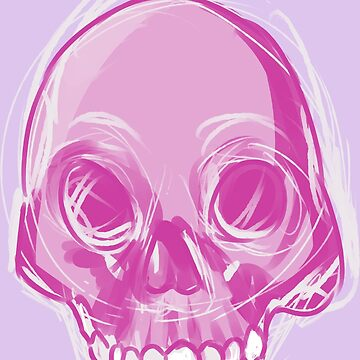 Single Pink Skull by Lovonne