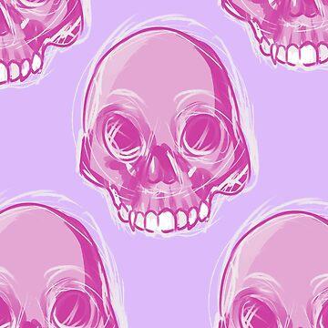 Pink Skull by Lovonne