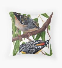 Spotted pardalotes Throw Pillow