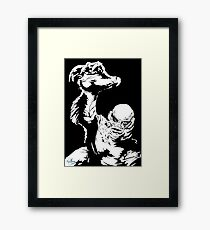 Creature from the Black Lagoon! Pop art insired Framed Print