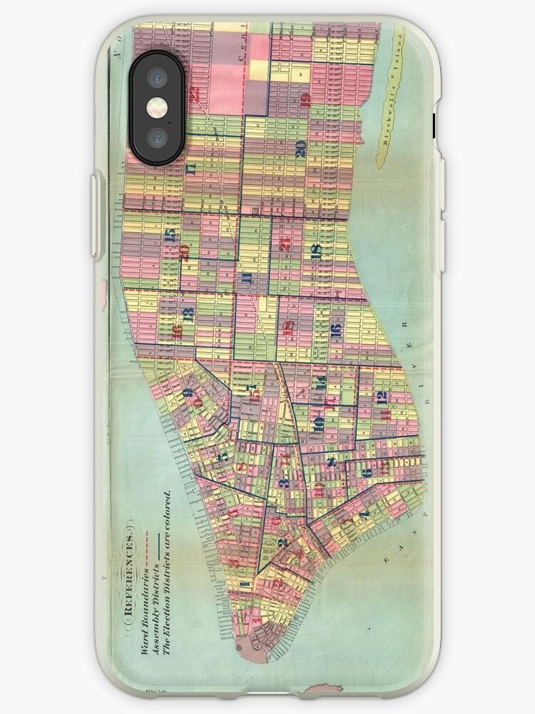 «Vintage NYC Political Ward Map (1870)» de BravuraMedia