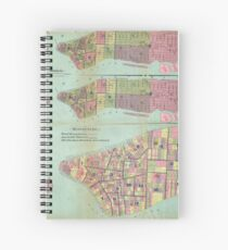 Cuaderno de espiral Vintage NYC Political Ward Map (1870)