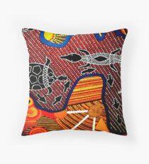 Outback Reptiles Throw Pillow