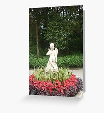 Flowers dancing for a little angel boy Greeting Card
