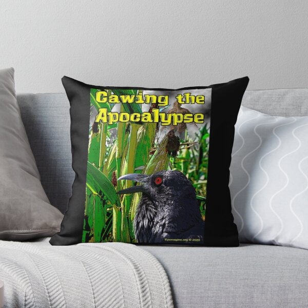 Cawing the Apocalypse Throw Pillow